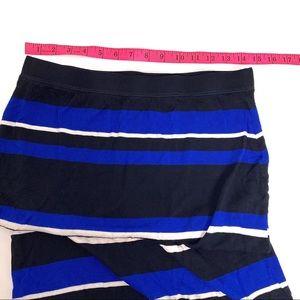 Club Monaco Skirts - Club Monaco Maxi Skirt Stripe Blue/White/Black